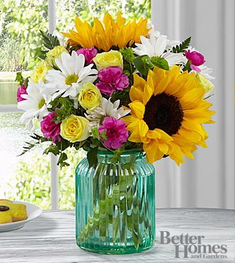 Sunlit Meadows Bouquet (Sunflowers subject to availability) Grenville Station