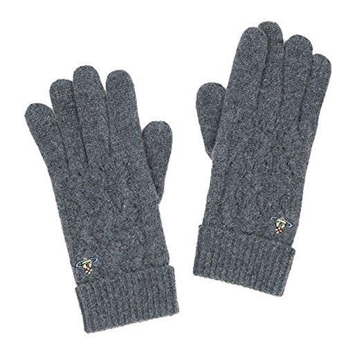 (비비안 웨스트 우드) Vivienne Westwood 장갑 패션 ORB 케이블 뜨기 니트 장갑 캐주얼 이중 재단 가을에 쓰는 물건 겨울용품 추동흑 블랙 빨강 레드 재 그레이 곤색 네이비 황 옐로우 자수 심플 레이디스