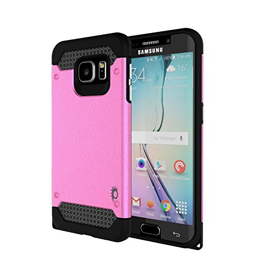 Galaxy s6 EDGE Case PunkCase Galactic Pink Series for Samsung Galaxy s6 EDGE Slim Protective Armor Soft Cover Case w/ Screen Protector Protector Lifetime Exchange ()