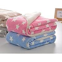 My NewBorn Ultra Soft Baby Blanket Wrapper (Set of 2, Hot Pink/Sky)