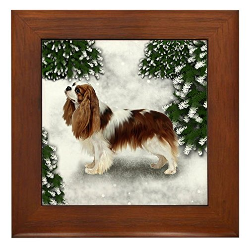 CafePress - CAVALIER KING CHARLES SPANIEL DOG Framed Tile - Framed Tile, Decorative Tile Wall Hanging - Cavalier King Charles Spaniels Framed