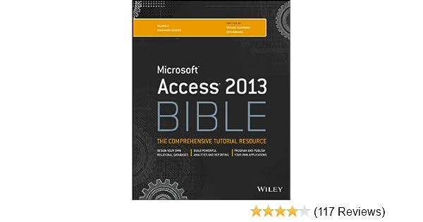 access 2013 bible pdf