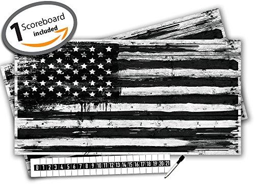 Cornhole Board Skin Wrap Decal - Vinyl Tournament Bean Ba...