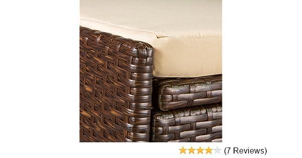 Amazoncom Victoria Young Resin Wicker Deck Box Storage Bench