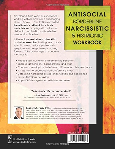 Antisocial, Borderline, Narcissistic and Histrionic Workbook ...