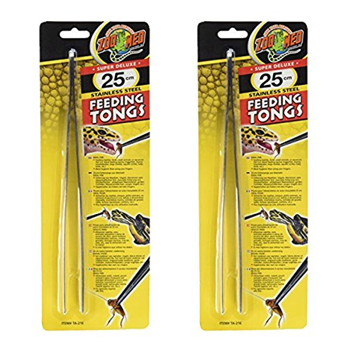 Zoo Med Stainless Steel Feeding Tongs, 10-Inch - 2 Pack by Zoo Med