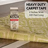 Carpet Tape 100ft Roll 33 Yards by ZAEL LAB