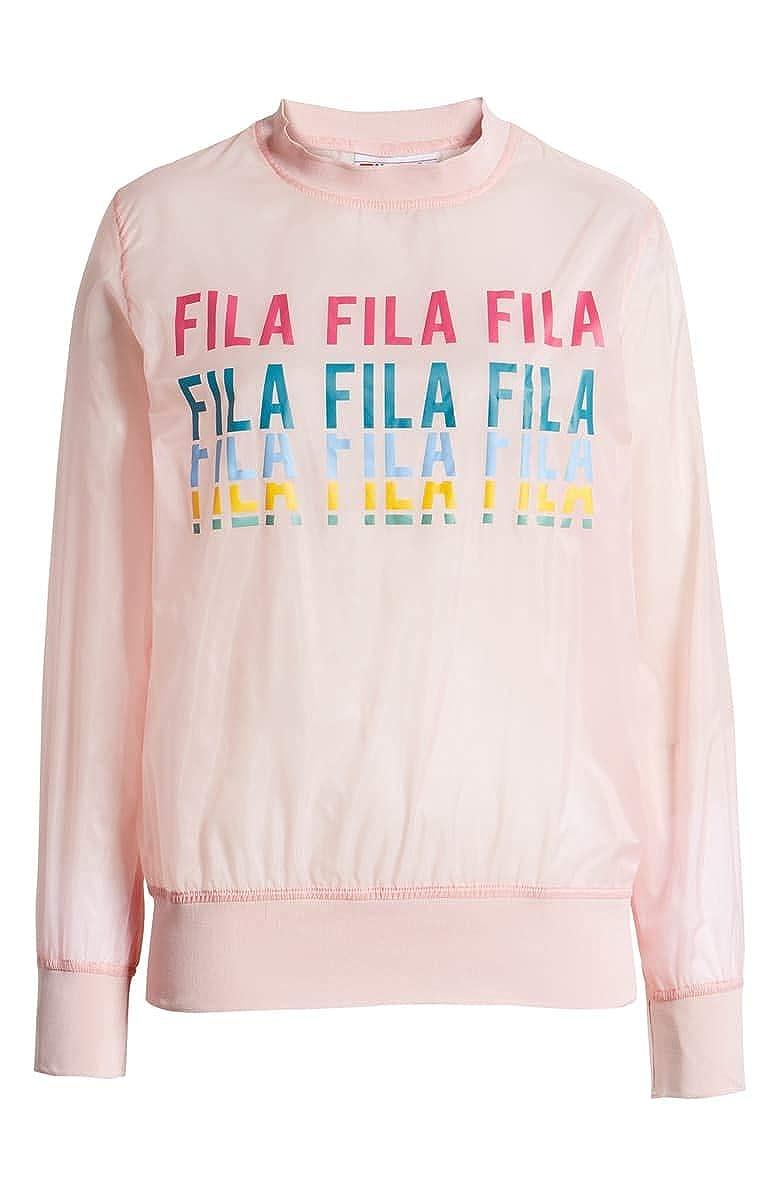 Fila Women's Heritage Sol Sheer Woven Sweatshirt Pink