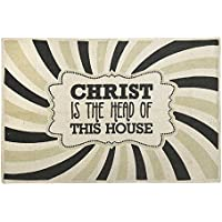 Dicksons Christ Head House Pinwheel Multi 36.5 x 24 All Cotton Rectangular Indoor Floor Rug