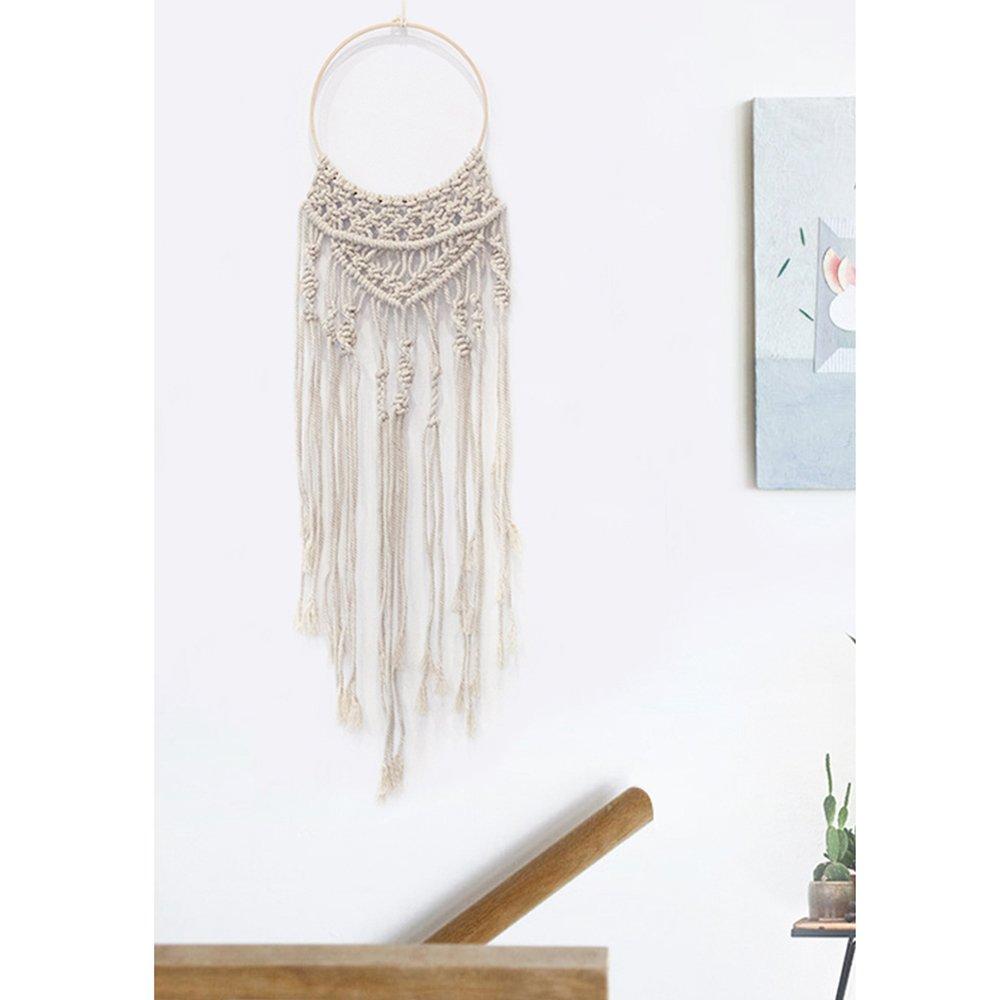 DARONGFENG Handmade Macrame Rope Weaving Wall Hanging Decorations Circle 10 x 44 Inches