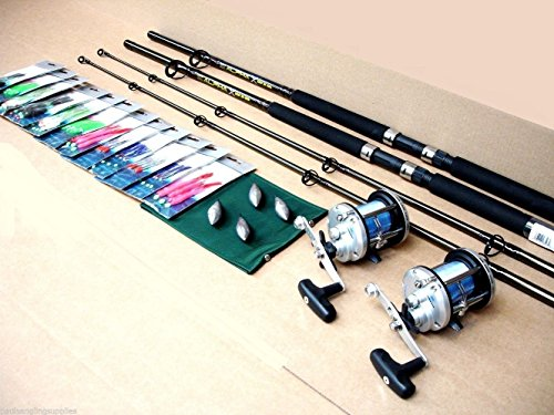 Shakespeare Boat Rod Fishing Kit / Set Rods Reels all tackle included
