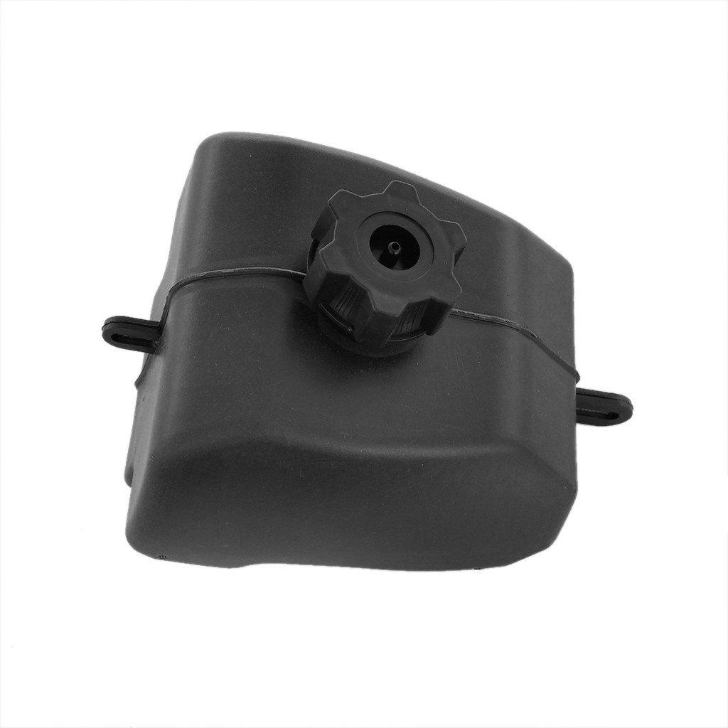 WPHMOTO Black Plastic Gas Petrol Fuel Tank with Cap For 2-Stroke ATV Quad Four Wheeler 50cc 110cc 90cc 125cc