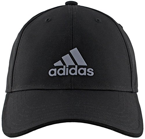 adidas Men's Decision Structured Adjustable Cap, Black/Grey, One Size