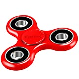 Fidget Spinner,Viyaabang Hand Spinner ,Tri-Spinner Fidget Toys for Adult and Kids -Perfect for ADD,ADHD,and Anxiety.(Red))