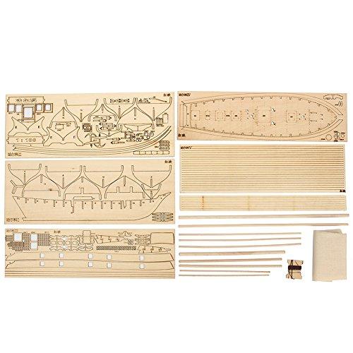 1: 100Escala Madera Velero de madera Ship Kits Home Bricolaje Modelo Decoración del hogar barco Juguete de regalo para...