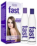 NISIM Fast 2 Pack Shampoo and Conditioner 10Z/300Ml - No Sulfates, Parabens