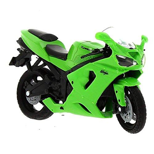 Moto Miniatura Kawasaki Ninja ZX-6 RR Verde Escala 1:18 ...
