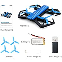 Rawuin New Foldable JJRC H43WH Mini RC Quadcopter 4CH 6 Axis 720P HD WIFI Camera Drone Support To Connect Phone To View The Live Video