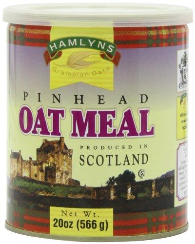 20 Tin One Oz - Hamlyn's Pinhead Oatmeal, 20-Ounce Tins (Pack of 6)