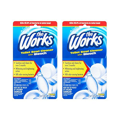 The Works Toilet Bowl Cleaner with Bleach Tablet, 3.5 oz (pack of 2)