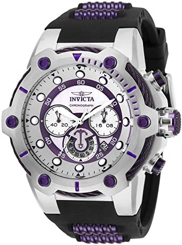 Invicta Men s Bolt Quartz Watch with Silicone Stainless Steel Strap, Black, 30 Model 28038