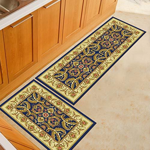 Sabull Kitchen Rugs Home Floor Carpets Living Room Bedroom Area Rug Doormats Bedside Mats Non-Slip Rubber Backed