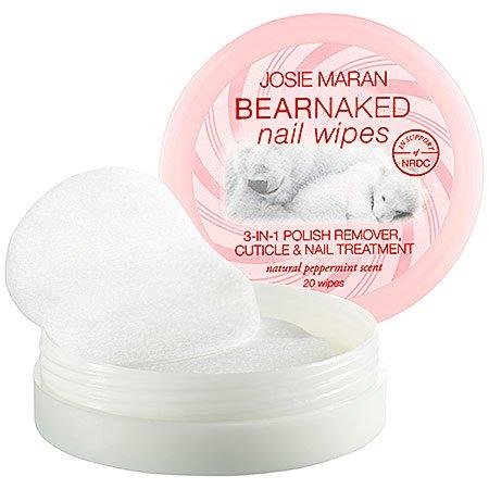 Josie Maran Bear Naked Nail Wipes (20 Nail Wipes, Peppermint) (Bear Peppermint)