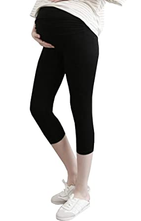 65ca6702988d82 Foucome Spring Summer Women's Maternity Lounge Trousers Fold Over Waistband Comfortable  Pregnancy Leggings: Amazon.co.uk: Clothing