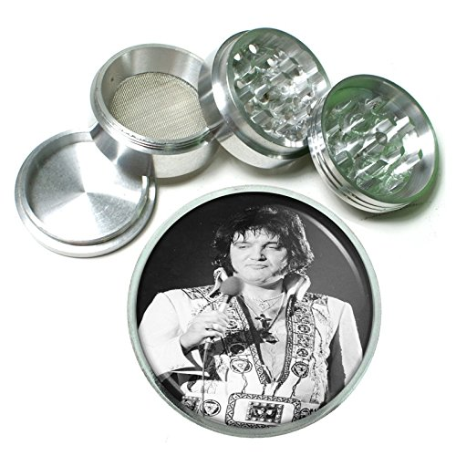 Fat Elvis The King of Burgers Icon 4 Pc. Aluminum Tobacco Spice Herb Grinder (King Burger Foods)