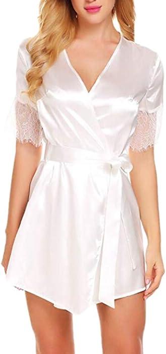 6039073d51 DEELIN Moda Mujer Sexy Ropa de Dormir lencería Encaje tentación cinturón Ropa  Interior camisón Muñecas bebé Sexy Vestido de Ropa de Dormir