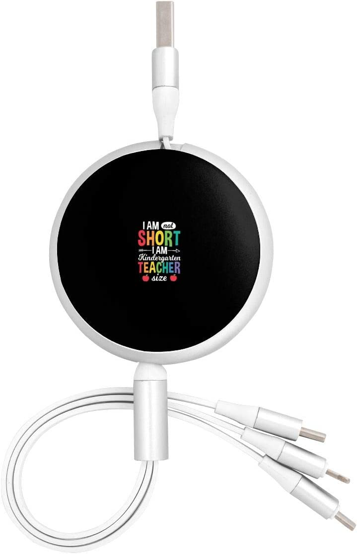 Funny Kindergarten Teacher Size Back to School Universal 3 in 1 Multi-Purpose USB Cable Charging Cable Adapter Micro USB Port Connector for Mobile Phones and Tablets