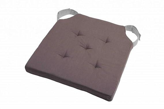 Cojín para silla Cojín de suelo Velcro banda Velcro 38 x 38 x 4,5 cm beige: Amazon.es: Hogar