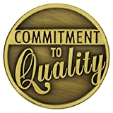 PinMart's Antique Bronze Commitment to Quality Corporate Lapel Pin