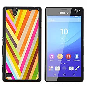 Smartphone PC duro caso cubierta protectora para Sony Xperia C4/Phone Case TECELL Store/colorido rayas papel pintado