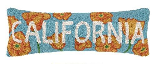 - Peking Handicraft California Poppy Hook Pillow, 8 by 24