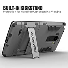 LG G4 Case, Yellow-Price Heavy Duty Armor Case with Stand For LG G4 (2015 Release) - Yellow-Price? Retail Packaging,Grey