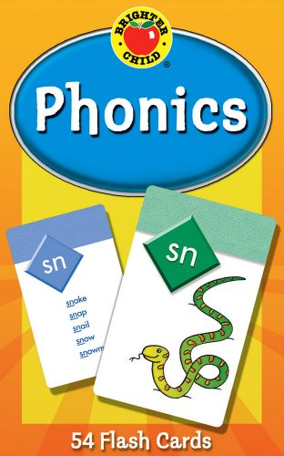 Carson Dellosa - Phonics Flash Cards - 54 Cards, Sight Words, Learn to Read for Preschool and Kindergarten Toddlers, Ages 4+ with Bonus Game Card (Brighter Child Flash - Vowel Blends Short