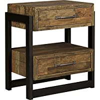 Sommerford Two Drawer Night Stand Brown/Casual