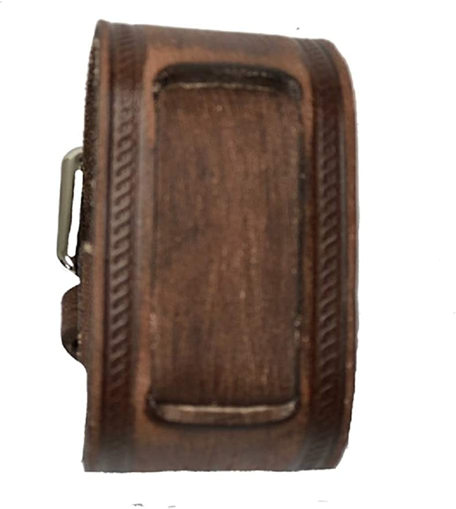 Vintage brown and grey cuff leather strap