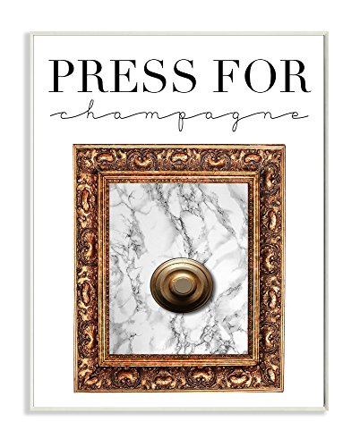 - Stupell Home Décor Press Button For Champagne Wall Plaque Art, 10 x 0.5 x 15, Proudly Made in USA