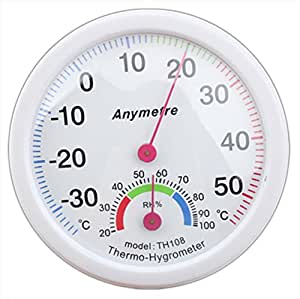 AmaranTeen - Digital White In-out Doors Centigrade Thermo-hygrometer