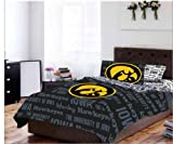Iowa Hawkeyes NCAA Full Comforter & Sheets (5 Piece Bed In A Bag)