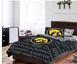 Iowa Hawkeyes NCAA TWIN Comforter & Sheets (4 Piece Bed In A Bag)