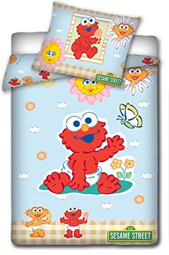 - Sesame Street Single Duvet Cover and Pillowcase Set,Kids Duvet Cover,135X 100cm
