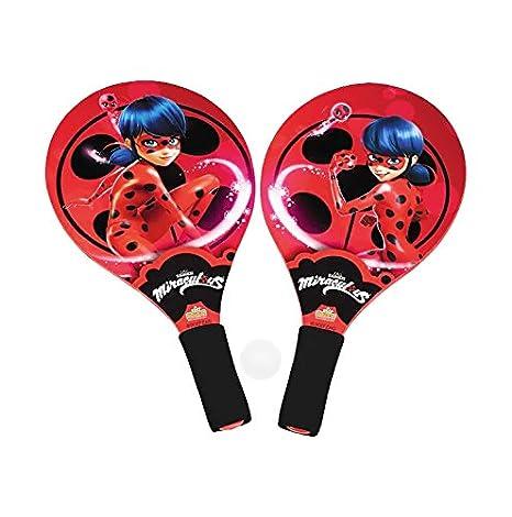 Miraculous - Juego de raquetas con pelota blanda para playa o ...