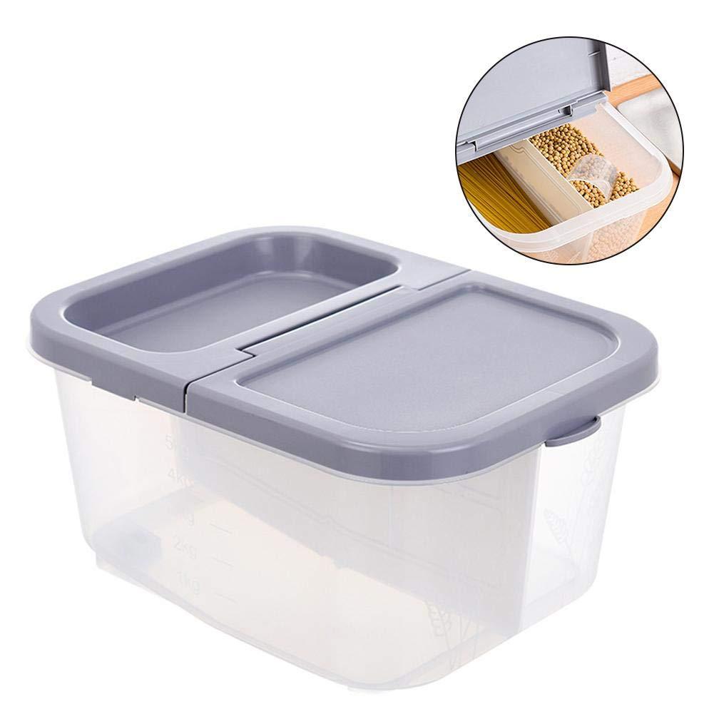 Dispenser per Cereali di Grande capacit/à da 10 l Cereali Fagioli Dadahuam Contenitore per Alimenti Riso Scatola sigillata per Alimenti per Animali Domestici con misurino