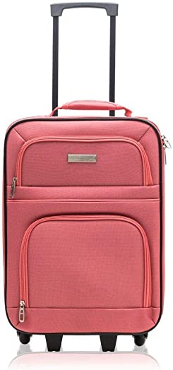 Millennium by Travelway Wheeled Carry-On Rolling Suitcase Coral