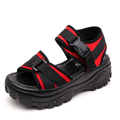 小学生無駄だ火山の厚底サンダル レディース スポーツサンダル コンフォートサンダル アンクルストラップ レディース シューズ 軽量 歩きやすい
