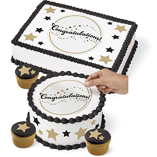 uation Cake Peel & Place Sugar Sheets Decorating Kit (Place Kitchen Kit)