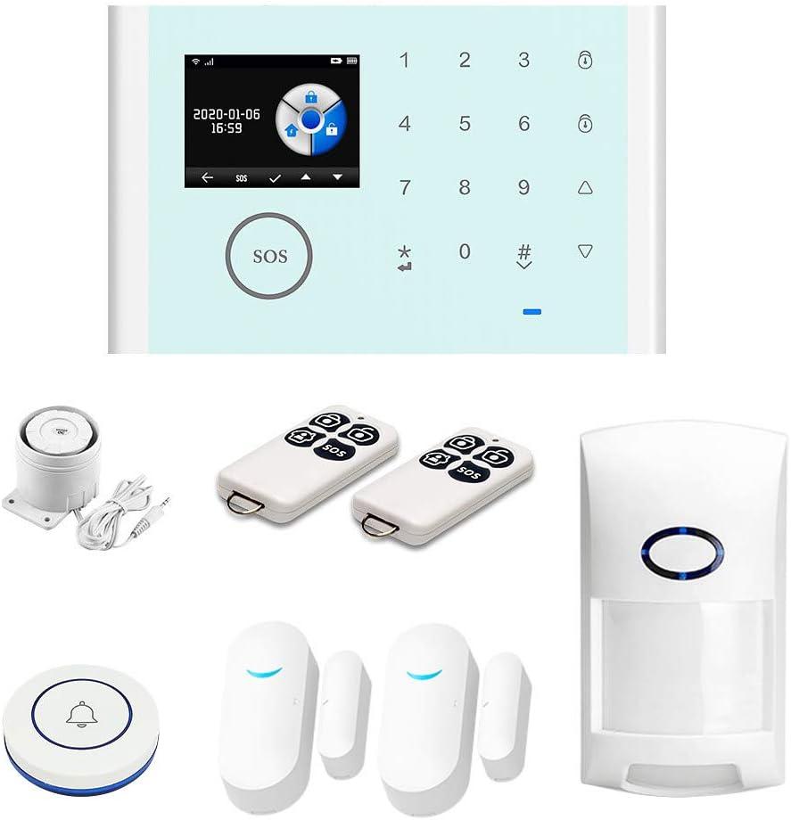 LNIMI CS118 Alarm System TUYA Wifi GSM GPRS Multilingual Intelligent Voice Home Alarm System Set (7Pcs)